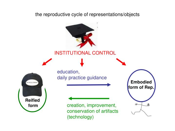 the reproductive cycle of representations/objects
