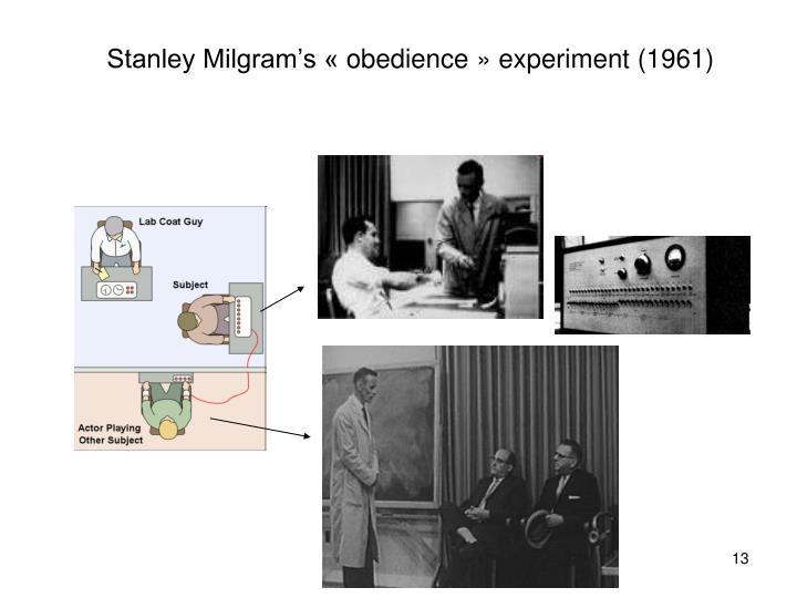 Stanley Milgram's «obedience» experiment (1961)