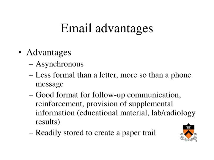 Email advantages