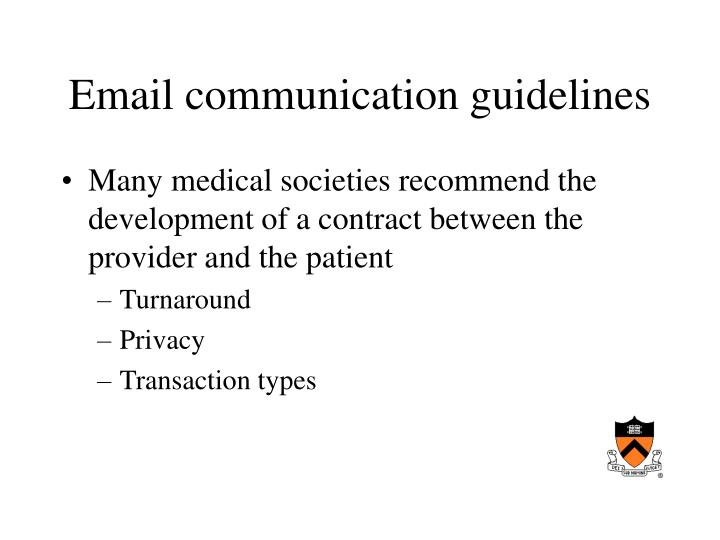 Email communication guidelines