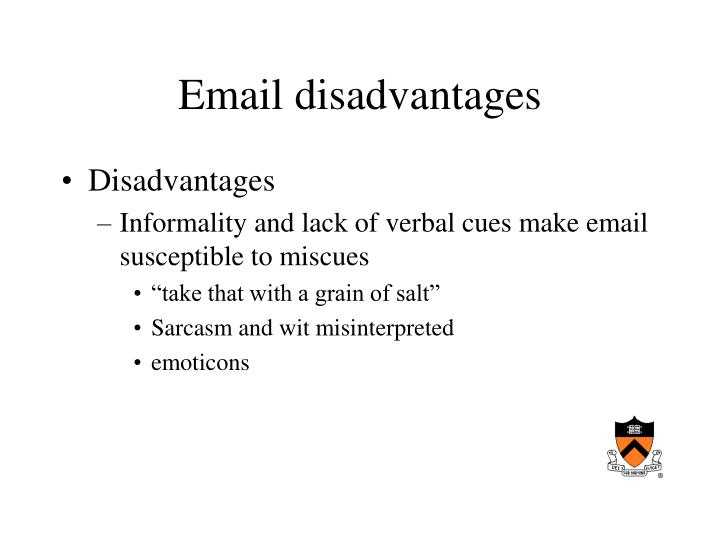 Email disadvantages