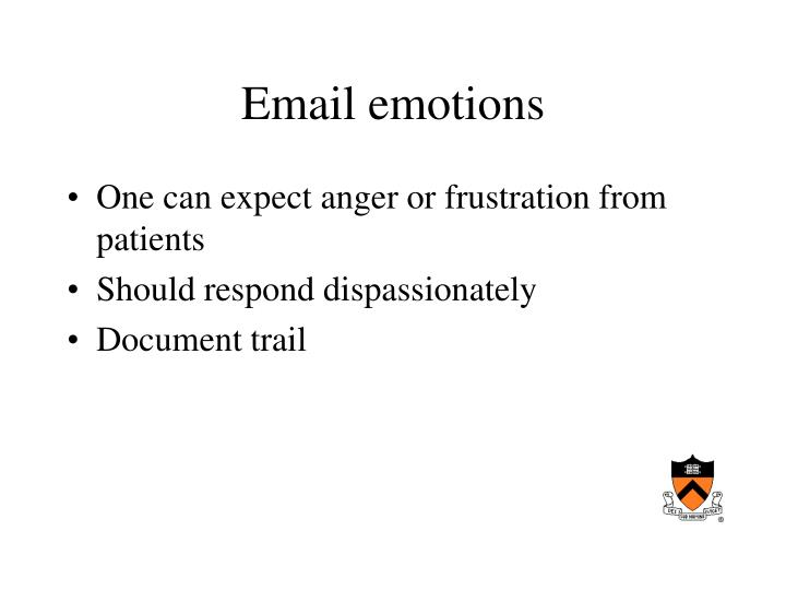 Email emotions