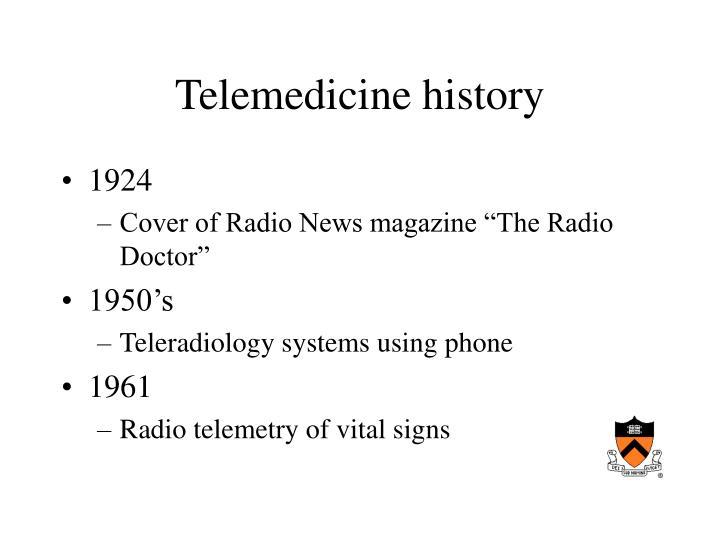 Telemedicine history