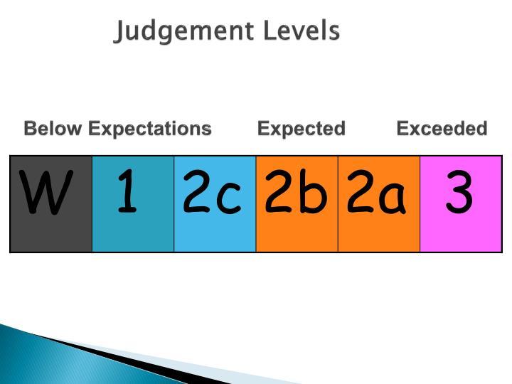 Judgement Levels