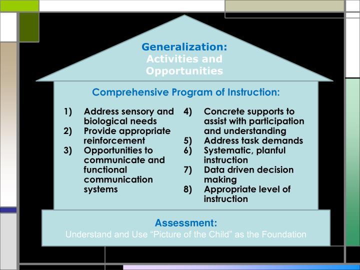 Generalization: