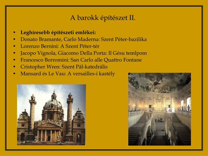 A barokk építészet II.