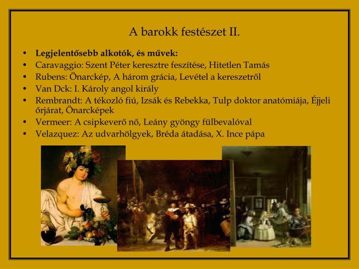 A barokk festészet II.