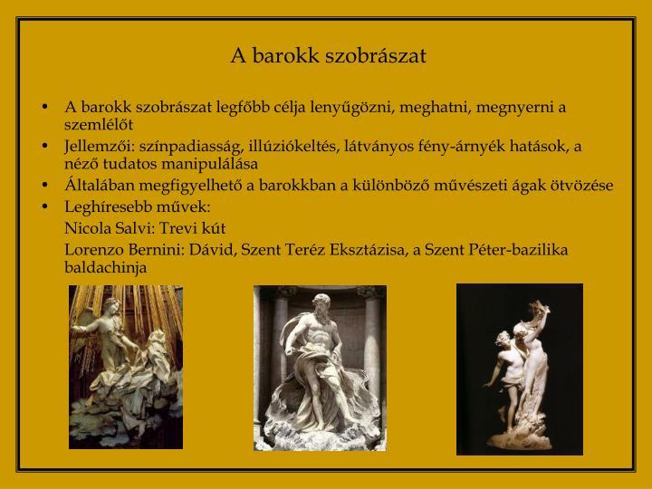 A barokk szobrászat