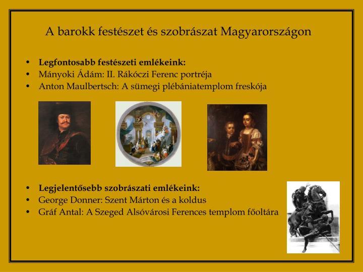 A barokk festészet és szobrászat Magyarországon