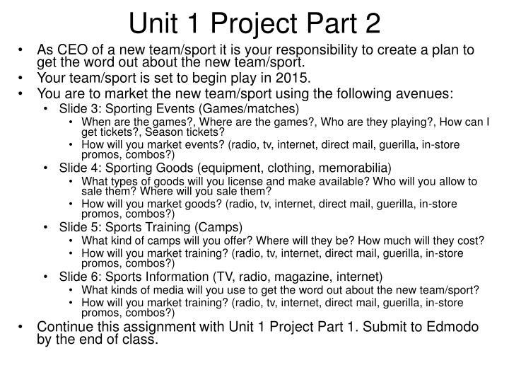 Unit 1 Project Part 2