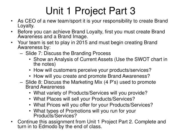 Unit 1 Project Part 3