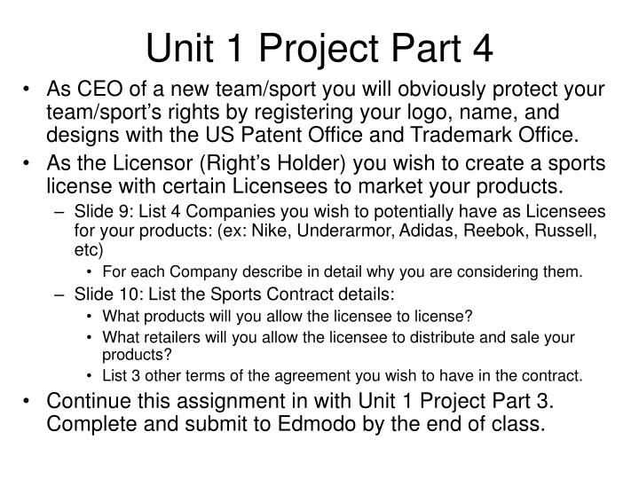 Unit 1 Project Part 4