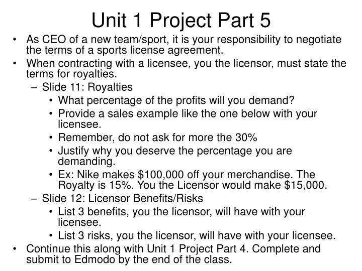 Unit 1 Project Part 5
