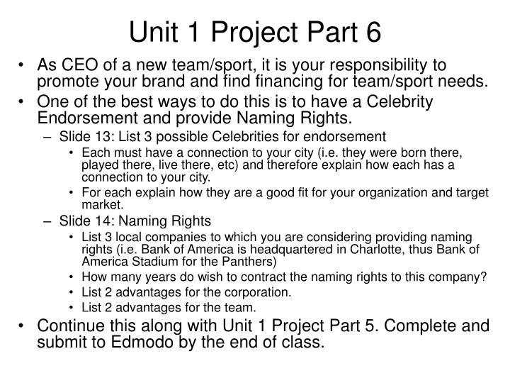Unit 1 Project Part 6