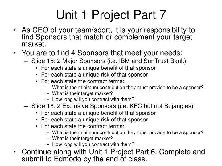 Unit 1 Project Part 7