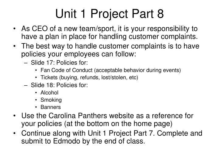 Unit 1 Project Part 8