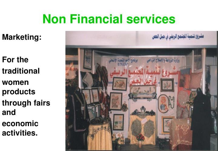 Non Financial services