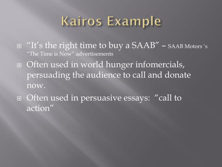 How to write a kairos essay