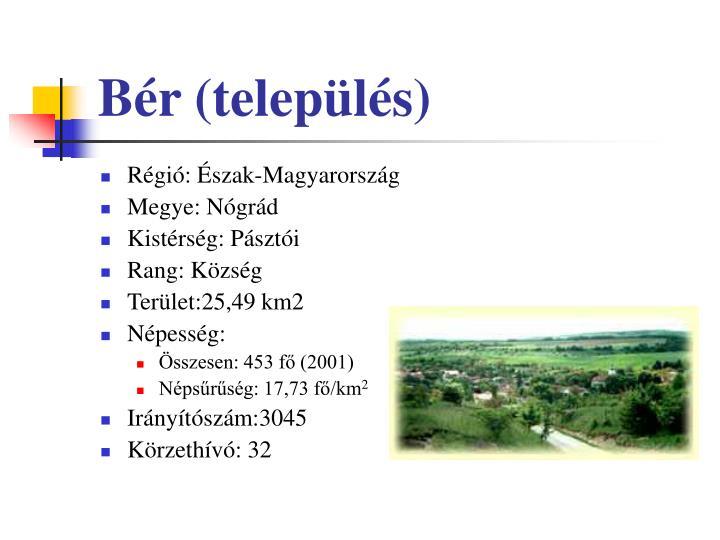Bér (település)