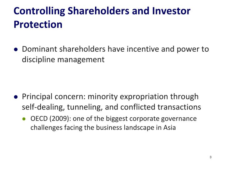 Controlling Shareholders and Investor Protection