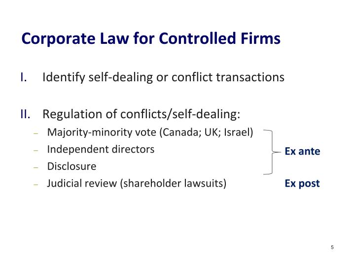 Corporate Law for Controlled Firms