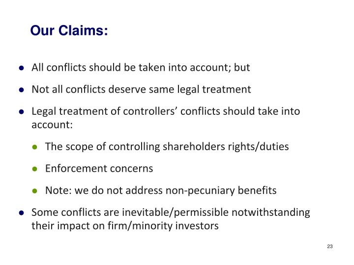 Our Claims: