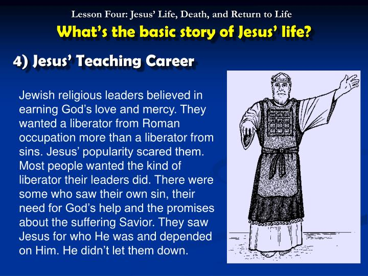 What's the basic story of Jesus' life?