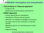 approach participatory tree domestication