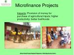 microfinance projects