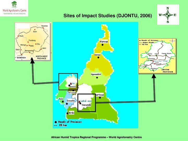 Sites of Impact Studies (DJONTU, 2006)