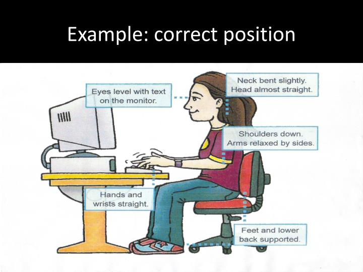 Example: correct position