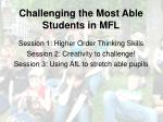challenging the most able students in mfl1