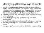 identifying gifted language students