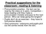 practical suggestions for the classroom reading listening5