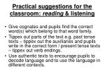practical suggestions for the classroom reading listening7