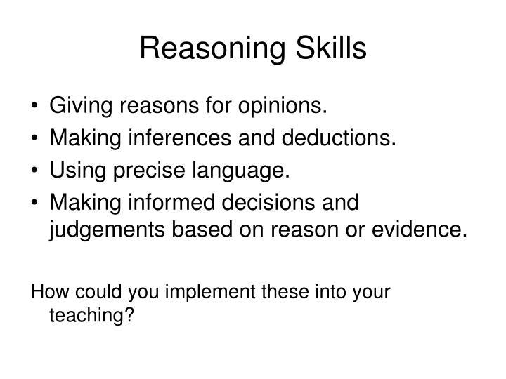 Reasoning Skills