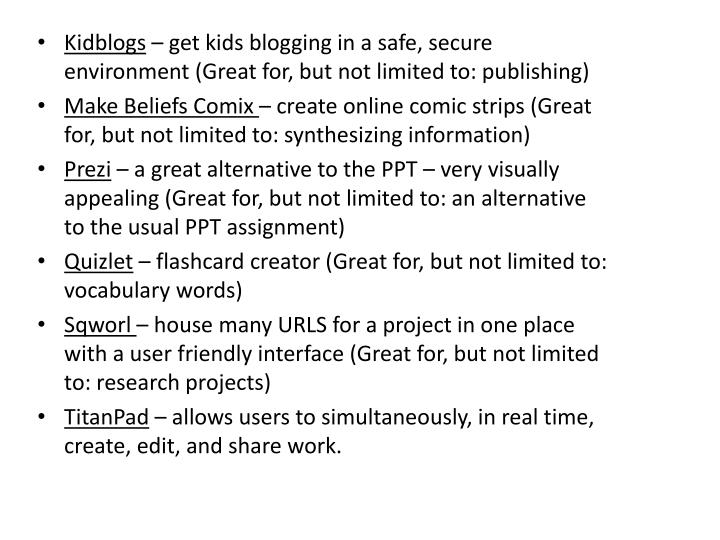 Kidblogs