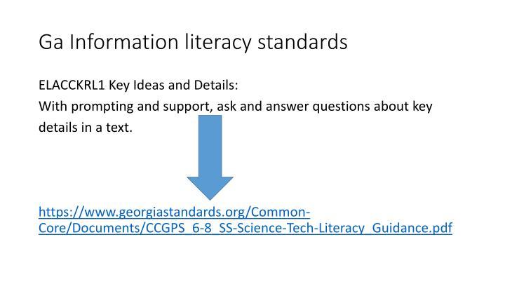 Ga Information literacy standards