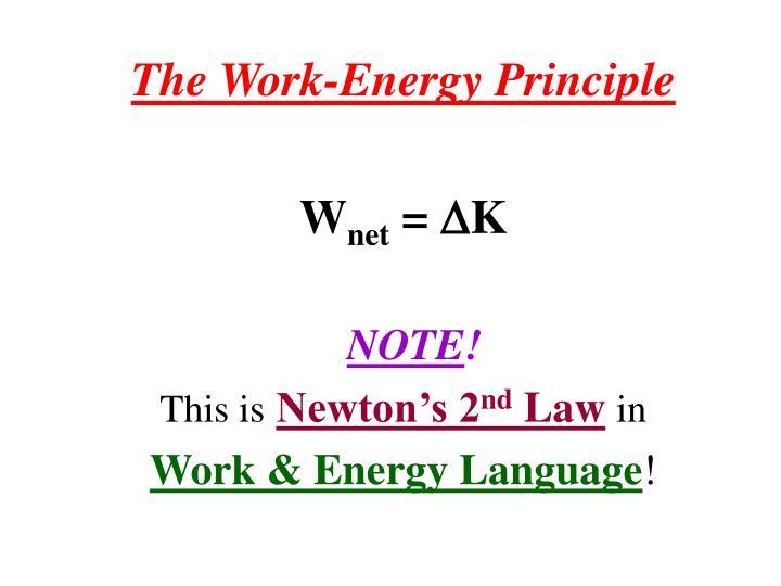 The Work-Energy Principle
