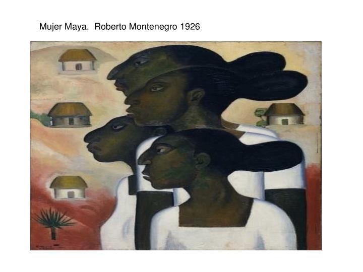 Mujer Maya.  Roberto Montenegro 1926