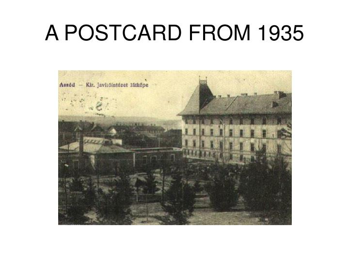 A postcard from 1935
