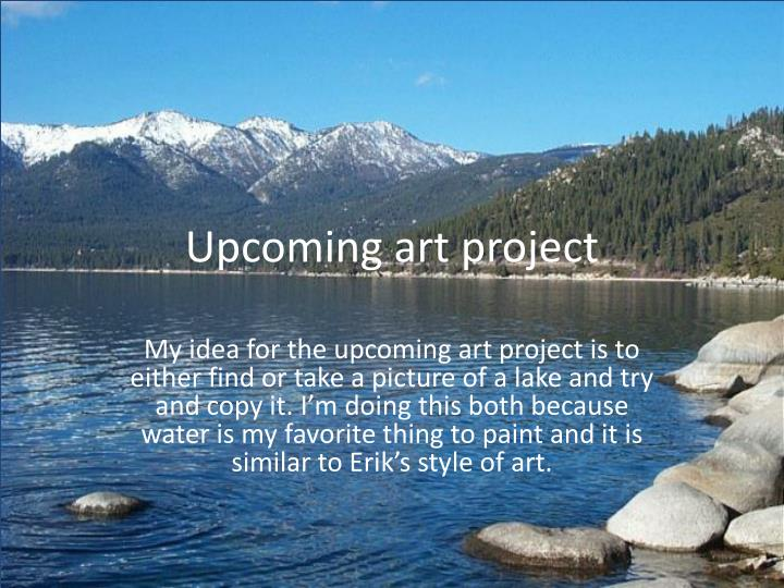 Upcoming art project