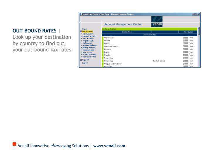Out-bound Rates