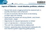 aspects of fisheries recent situation problems solutions