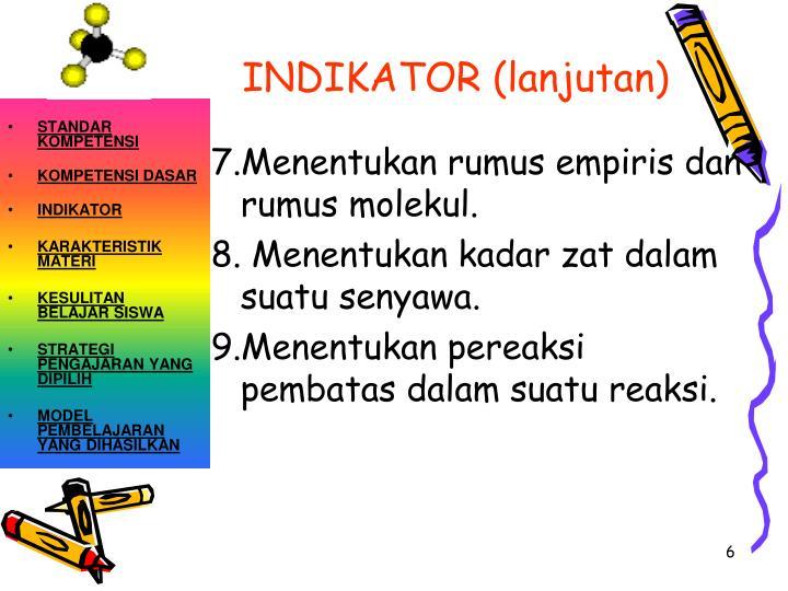 INDIKATOR (lanjutan)