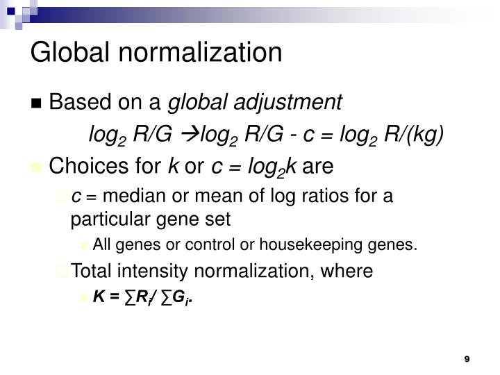 Global normalization