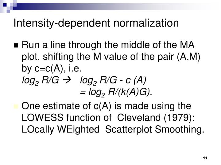 Intensity-dependent normalization