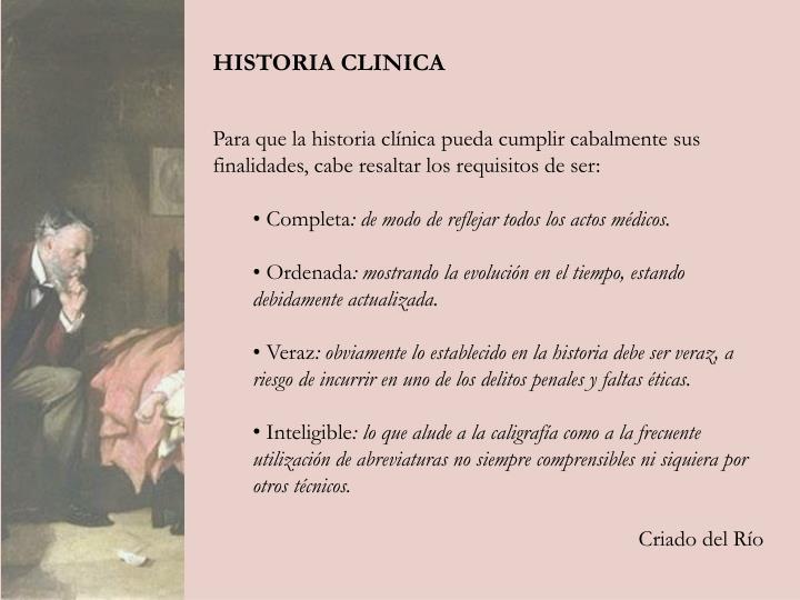 HISTORIA CLINICA