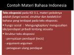 contoh materi bahasa indonesia