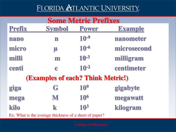 Prefix SymbolPower  Example